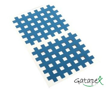 2 blaue Gittertapes