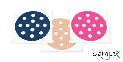 runde Akupunkturpflaster gemischt